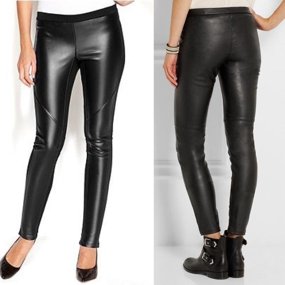 4b8a742106aa7e NWT Michael Kors Ponte Knit faux leather leggings.  M_5af5d2d23b1608704af9ed75
